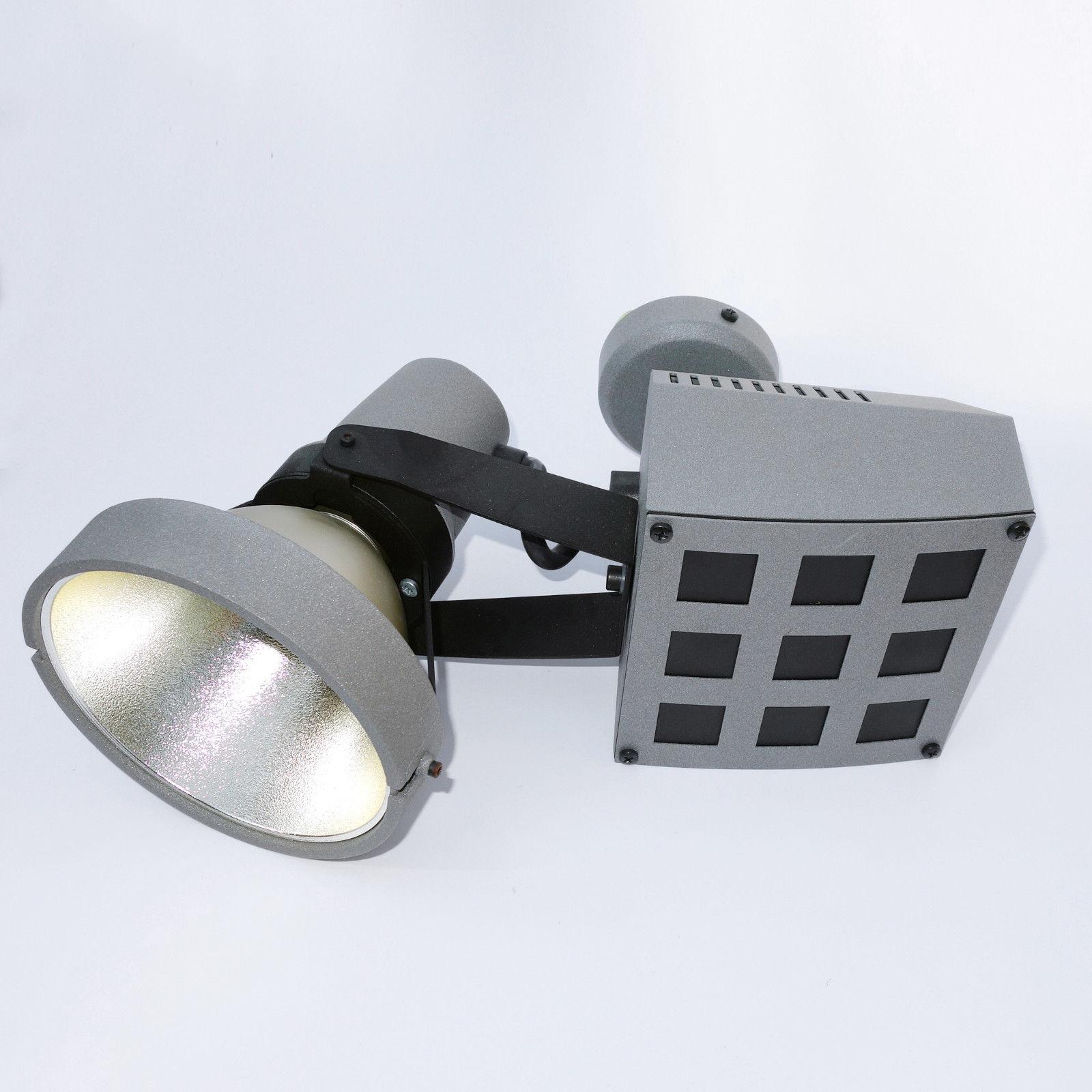 2er Set RGB LED Wandleuchten Farbwechsel Dimmer Außenlampen Haustür Alu Strahler